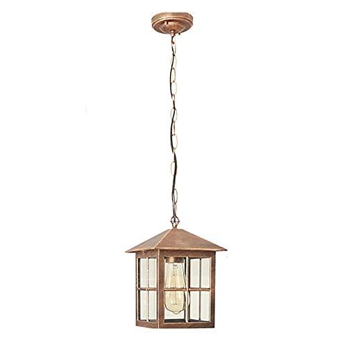 Candelabro impermeable al aire libre simple al aire libre, balcón, patio, villa, pasillo, pasillo, jardín, gazebo lámpara-Bronce