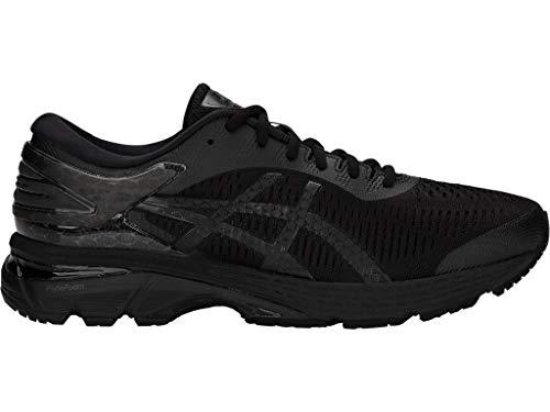 ASICS Men's Gel-Kayano 25 Running Shoes, 9.5M, Black/Black