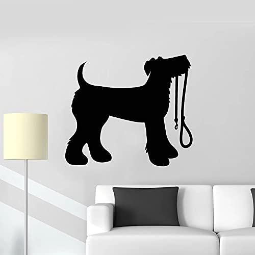 HGFDHG Calcomanía de Pared para Perro, Mascota, Cachorro, Lindo Animal, Tienda de Mascotas, decoración de Interiores, Vinilo, Pegatina para Ventana, Silueta Creativa, Arte Mural
