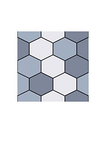 PYLTTK 3D Wall Panel DIY Decorative Hexagon Tile 3D Wallpaper Stickers Pvc Self Adhesive Contact Paper Home Decor Living Room Kitchen Wall Covering 30x30x0.5cm*8pcs
