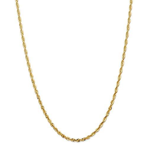 Diamond2deal 14K giallo oro 4mm extra-light collana 76,2cm