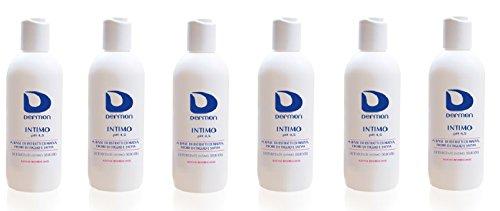 Alfasigma Lot de 6 flacons de nettoyant intime Dermon de 500 ml au pH 4,5 acide qui rafraîchit, protège et restaure les équilibres intimes