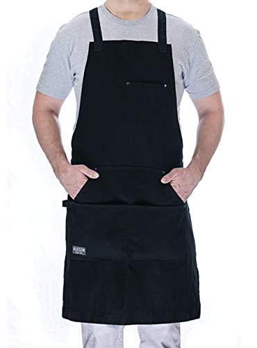 Hudson Durable Goods - Professional Grade Chef Apron - Navy - 100% Cotton