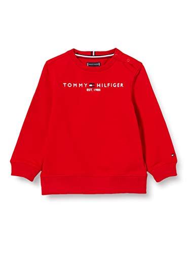 Tommy Hilfiger Jungen Essential Cn Sweatshirt Pullover, Deep Crimson, 86