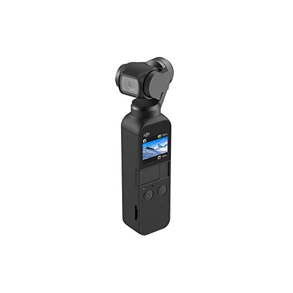 RetinaPix DJI OSMO Pocket Handheld 3 Axis Gimbal Stabilizer with Integrated Camera, Attachable to Smartphone, Android, iPhone