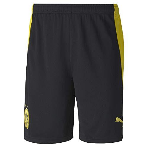 PUMA Herren BVB Shorts Replica Black-Cyber Yellow, L