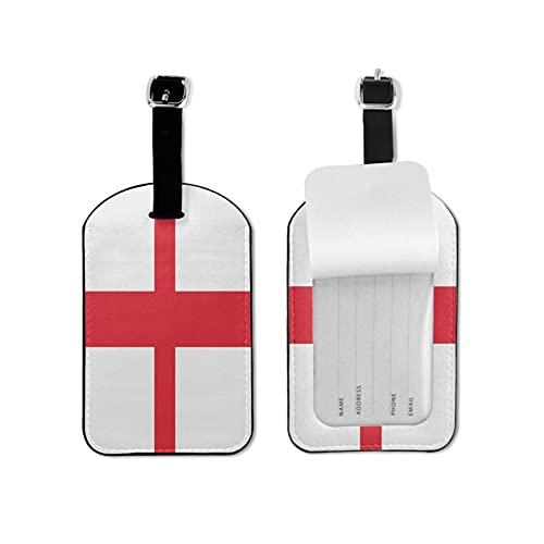 Tvuirw Bandiera dell'Inghilterra Etichetta per bagagli in microfibra PU pelle sintetica Etichetta per bagagli Unisex Universale Viaggio Indossare Carino Piccolo Etichetta per Bagagli