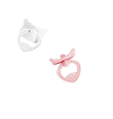 Götz 3402236 2 Schnuller rosa/weiß für Götz Cookie Babypuppen, Puppenschnuller passend für 48 cm Babypuppen von Götz