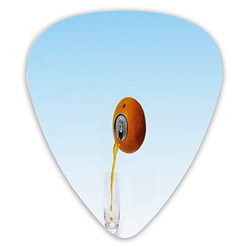 Púas de guitarra FULIYA para guitarra eléctrica, acústica o bajo, 0,46 0,71 0,96 mm, arte digital, naranja, vidrio, zumo, minimalismo.