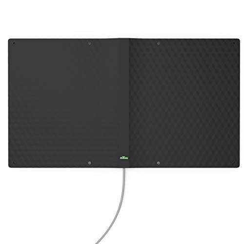 Mohu MH-110038 Ranger Indoor/Outdoor Amplified HDTV Antenna - Upto 75 Mile - Indoor, Outdoor, HDTV Antenna - Gray - Wall Mount - Multi-Directional - F Connector Connector