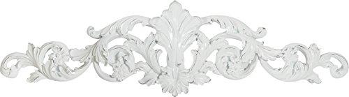 Frise décorative Finition Blanche vieillie L48xPR2xH14 cm