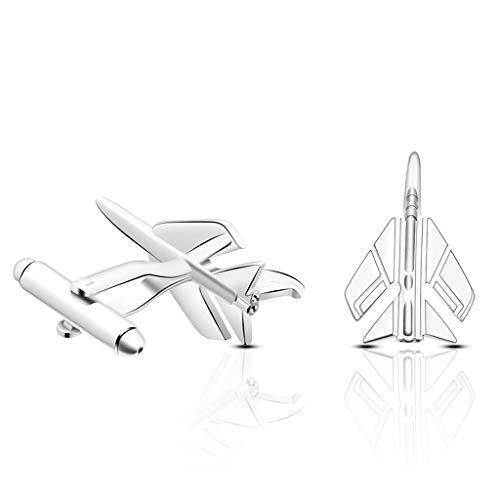 YWSZJ Creative Fashion Fighter Modeling Business Gentleman Ganflinks para Hombre Camisa Cuff Plane Plane Jewelry