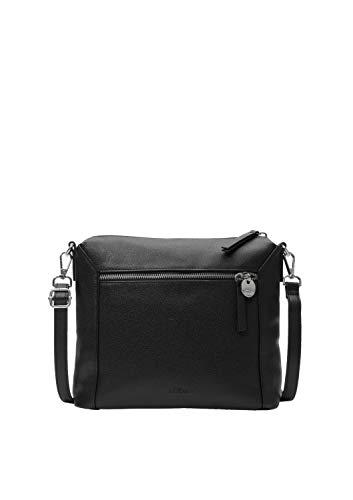s.Oliver (Bags Damen 39.001.94.2025 Tasche Schultertasche, black, 8.5x24.5x27 cm