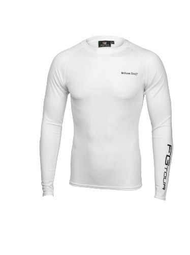 Wilson Authentic - Polo para Hombre, tamaño L, Color Blanco