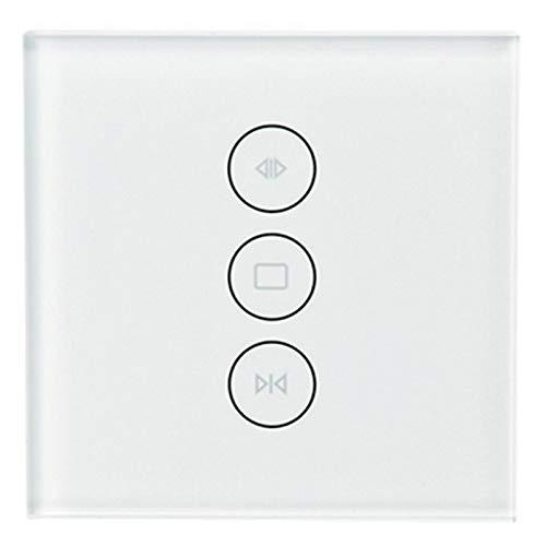 SNOWINSPRING Interruptor De Cortina Inteligente WiFi Smart Life Tuya Para Persianas EléCtricas De Cortina Combinado Con Alexa Y Home, Enchufe De La UE