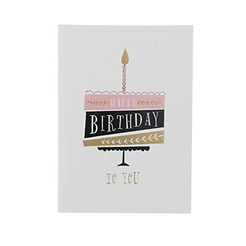 Wenskaarten BLTLYX NIEUWE aankomst Kinder wenskaarten Verjaardagskaarten Leuke gelukkige verjaardag Metalen bedankkaarten 9 * 12,5 cm wit