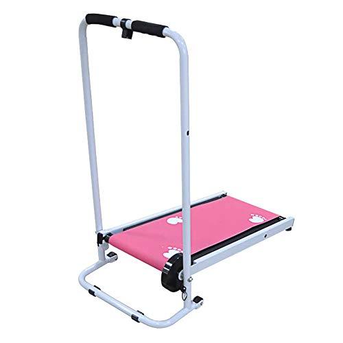 Cinta de Correr Caminar Plegable Mini Máquina de Caminar, LCD Pantalla y Caloría Mostrador a el Oficina y a Hogar Aptitud Equipo,Rosado