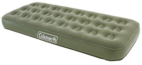 Coleman Comfort-Colchón Maxi de Aire de una Persona Verde Verde Talla:Talla única