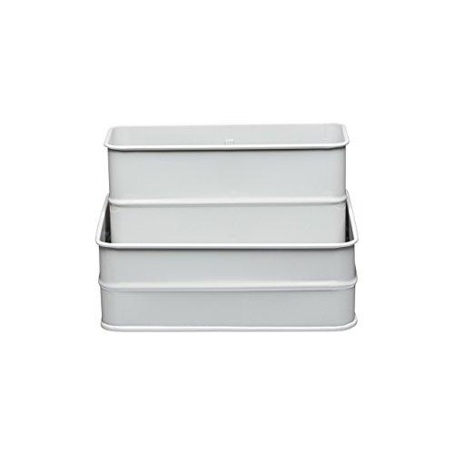 Kitchen Craft LNSINKGRY Boîte pour Ustensiles de Vaisselle, Métal, Gris, 17 cm