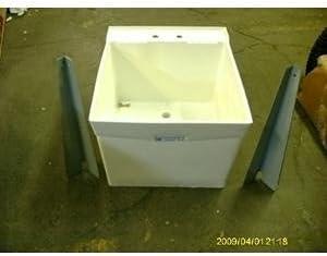 Utilatub 20 in. W x 24 in. D Single Polypropylene Laundry Tub