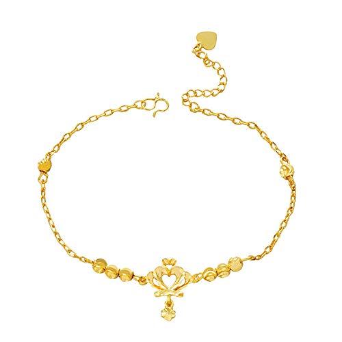 siqiwl Tobillera de tobillo para mujer, corona descalzo, sandalias de ganchillo tobilleras, joyas de cadena