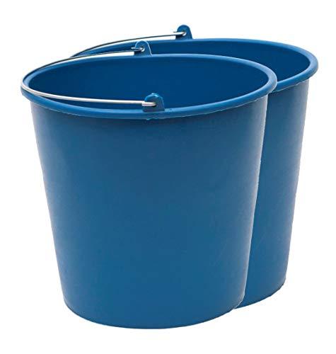 PACK de 2 cubos engomados de plástico reciclado (Azul) (12