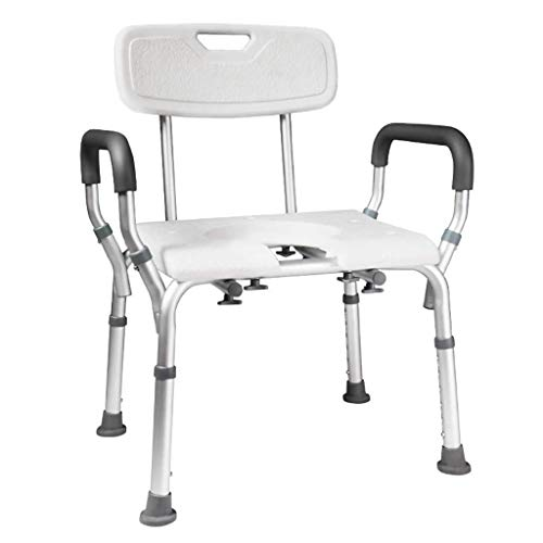 Bathroom Wheelchairs RRH Bedside Commodes Bedside Commode Chair, Shower Chair Adjustable Height with Arms/Backrest for Elderly, Adults, Pregnant Woman