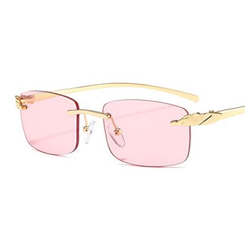LUOXUEFEI Gafas De Sol Gafas De Sol Rectangulares Para Mujer, Sin Montura, Con Lentes Pequeños, Gafas De Sol Para Hombre