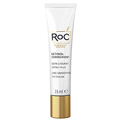 RoC - Retinol Correxion Line Smoothing Eye Cream - Visibly Reduces Puffiness & Dark Circles - Anti-Wrinkle and Ageing - 15 ml from RoC