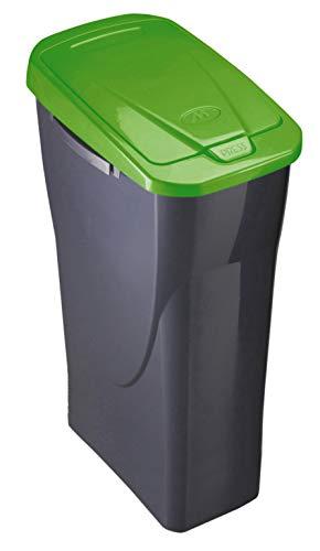 M Home Cubo 25 L ECOBIN con Tapa de Color Verde 21,5x36x51 cm