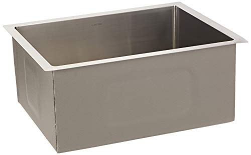 Cantrio KSS-105 Stainless Steel Undermount Kitchen Sink, 23 x 18-Inch