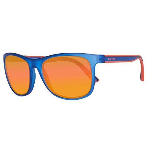 United Colors of Benetton Unisex-Erwachsene BE982S03 Sonnenbrille, Blau (Blue), 55
