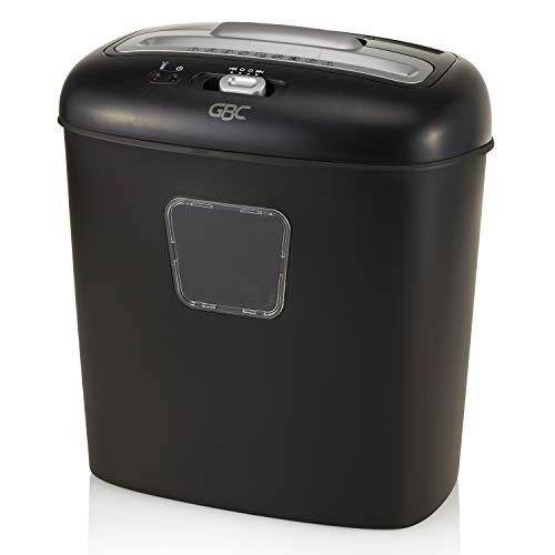 GBC Paper Shredder, Junk Mail, 12 Sheet Capacity, Super Cross-Cut, 1 User, Personal Duo, Black (1757394)