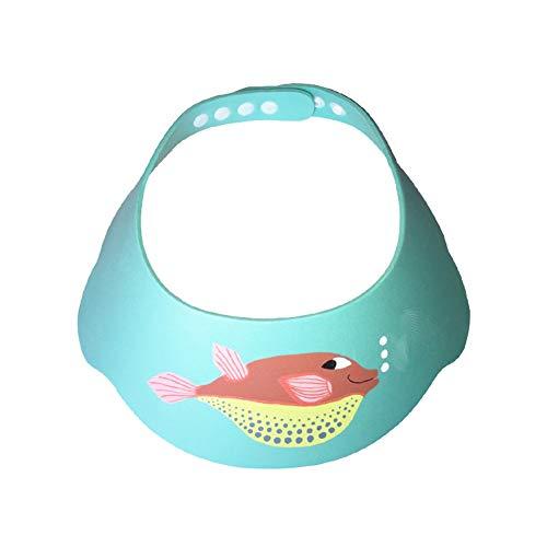 Myonly Baby-Kind Schatten Shampoo Kappe Duschhaube einstellbar Shampoo Schild Babywanne Schutz Augenschutz wasserdicht Babypflege,Grün