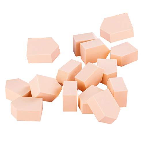 freneci Ensemble 15 Pièces Maquillage éponge Makup Blender pour Fond DE Teint Poudre Crème Correcteur avec Boîte De Rangement - Rose clair