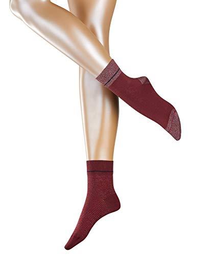 ESPRIT Damen Socken Nice Stripe und Dot 2er Pack, Rot (Garnet 8185), 39-42