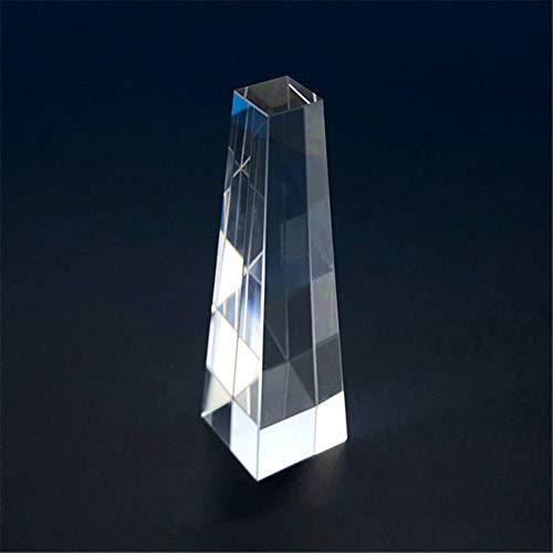 Toltec Lighting Optisches Prisma Schönheitsinstrument Prisma vierseitiger Lichtleiter, K9 Optisches Glas, Dekoration Streuprisma Würfel, Wissenschaftliches Experiment Prisma, Optisches Lehrprisma