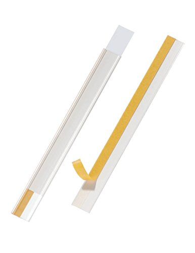 Durable 802319 Scannerschienen Scanfix inkl. Etiketten, 200 x 20 mm, Transparent, 50 Stück