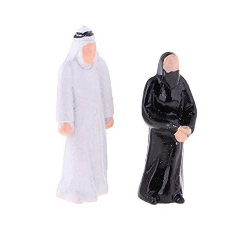 MINGMIN-DZ árboles de plástico 20x 1/150 Modelo a Escala Personas Figuras árabes árabes para Partes de Garga de Diorama Juguetes de construcción de jardín de Flores