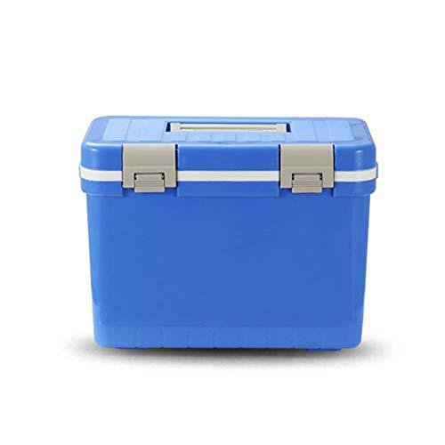 FZYE Refrigerador portátil, refrigerador y Calentador eléctrico, refrigerador de Caja de Aislamiento, refrigerador Enfriador de Cubitos de Hielo para automóvil al Aire Libre, Azul 24x30