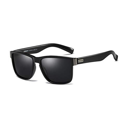 DUBERY Gafas de Sol polarizadas Deportivas for Hombre/Mujer 100% UV400 Protección HD Gafas de equitación A Prueba de Viento D518 (Color : #1)