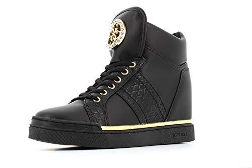 Guess Scarpe Donna Sneakers con Zeppa Interna FL5FREELE12 Nero Taglia 36 Nero