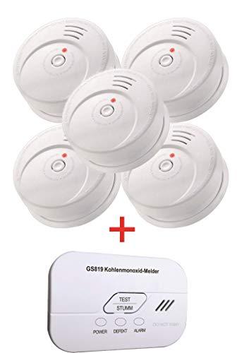 Jeising Sicherheits Set GS506 G 5er Set Rauchmelder/Brandmelder/ 10 Jahre Batterie KRIWAN...