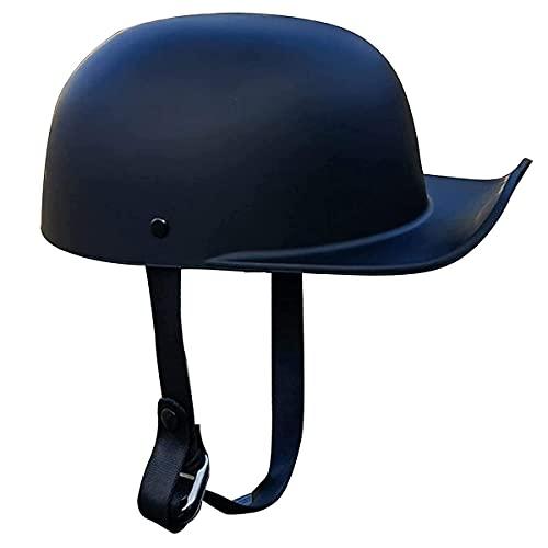 qwert Casco retro de media cara aprobado por DOT, casco de motocicleta, casco de media cara, casco universal para motocicleta, scooter abierto (M-XXL, 54-62 cm)