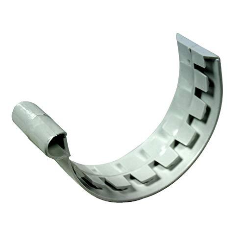 First Plast - Gouttière PVC 25 demi-ronde - Jonction à coller PVC 25 demi-ronde - gris