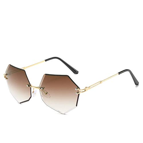 Gafas de Sol Sunglasses Gafas De Sol para Mujer, Sin Montura, Ojo De Gato, Diseñador, Sin Marco, con Lentes De Colores Transparentes, Gafas De Sol, Gafas Graduadas para C