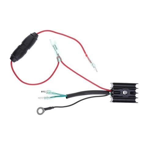 Außenborder Gleichrichter Spannungsregler für Yamaha 25-70 PS Motor, Schwarz