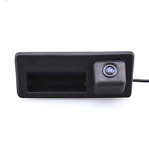 Kalakus Caméra de recul étanche 170 ° - Avec poignée de valise Pour A3 A4 A6 A8L Tiguan Touran Touareg (modèle 2 = 110 x 50 mm)