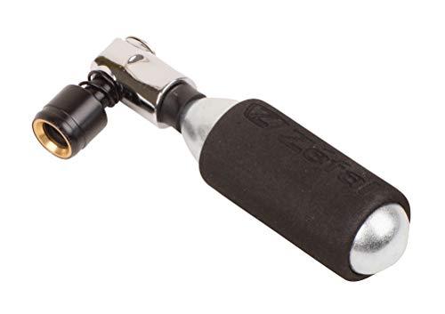 ZEFAL EZ Big Shot-Negro & Plata Inflador de CO2 + Cartucho de 16 g – Compacto, Ligero, rápido y sin Esfuerzo, Unisex, Negro y Plata, FR (Talla del Fabricante: única)