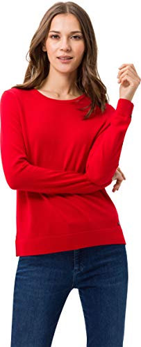 BRAX Damen Style Liz Feel Luxury Rundhals Pullover, WILD RED, (Herstellergröße: 38)